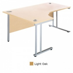 Sunflower Medical Light Oak 180cm Wide Left Hand J-Shaped Desk