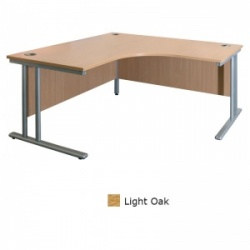 Sunflower Medical Light Oak 180cm Wide Symmetrical Desk