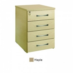 Sunflower Medical Maple Four Drawer Desk Height Pedestal (60cm Depth)