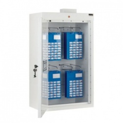 Sunflower Medical Medicine Cabinet 85 x 50 x 30cm with Four MDS Racks and Warning Light
