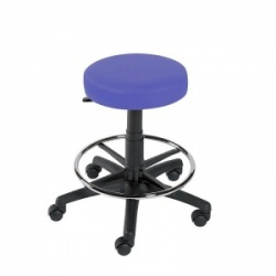 Sunflower Medical Mid Blue Gas-Lift Stool with Foot Ring