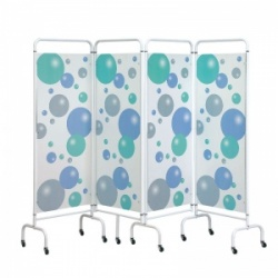 Sunflower Medical Bubble Mobile Four-Panel Folding Hospital Ward Screen