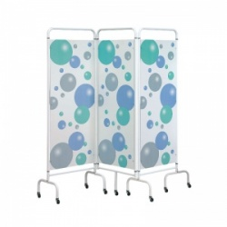 Sunflower Medical Bubble Mobile Three-Panel Folding Hospital Ward Screen