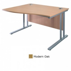 Sunflower Medical Modern Oak 180cm Wide Left Hand Wave Desk