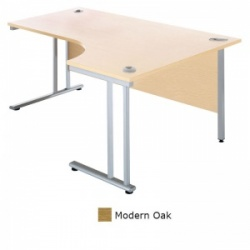 Sunflower Medical Modern Oak 180cm Wide Right Hand J-Shaped Desk