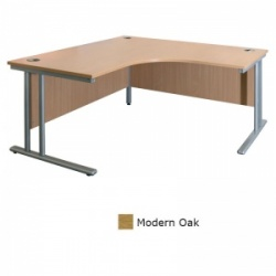 Sunflower Medical Modern Oak 180cm Wide Symmetrical Desk