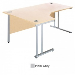 Sunflower Medical Plain Grey 180cm Wide Left Hand J-Shaped Desk