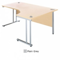 Sunflower Medical Plain Grey 180cm Wide Right Hand J-Shaped Desk