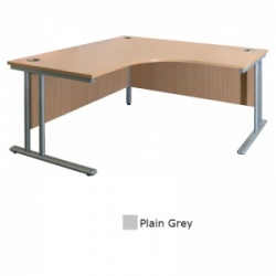 Sunflower Medical Plain Grey 180cm Wide Symmetrical Desk