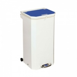 Sunflower Medical 70 Litre Clinical Hospital Waste Bin with Blue Lid for Medical Waste for Incineration