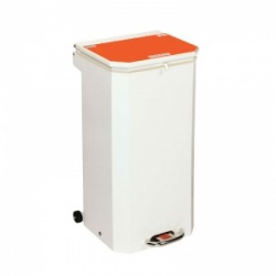 Sunflower Medical 70 Litre Clinical Hospital Waste Bin with Orange Lid for Waste Which May Be Treated