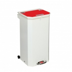 Sunflower Medical 70 Litre Clinical Hospital Waste Bin with Red Lid for Anatomical Waste for Incineration