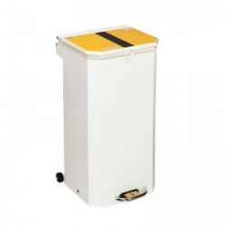 Sunflower Medical 70 Litre Clinical Hospital Waste Bin with Yellow and Black Lid for Offensive and Hygiene Waste