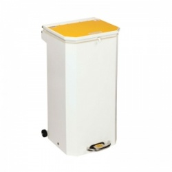 Sunflower Medical 70 Litre Clinical Hospital Waste Bin with Yellow Lid for Incineration