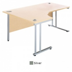 Sunflower Medical Silver 180cm Wide Left Hand J-Shaped Desk