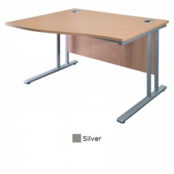 Sunflower Medical Silver 180cm Wide Left Hand Wave Desk
