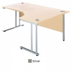 Sunflower Medical Silver 180cm Wide Right Hand J-Shaped Desk