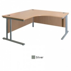 Sunflower Medical Silver 180cm Wide Symmetrical Desk
