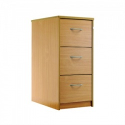 Sunflower Medical Beech Three-Drawer Filing Cabinet