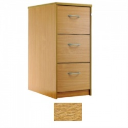 Sunflower Medical Light Oak Three-Drawer Filing Cabinet