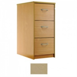 Sunflower Medical Maple Three-Drawer Filing Cabinet