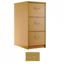 Sunflower Medical Modern Oak Three-Drawer Filing Cabinet