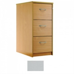 Sunflower Medical Plain Grey Three-Drawer Filing Cabinet