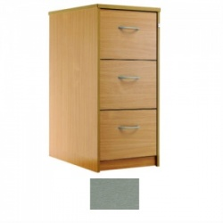 Sunflower Medical Silver Three-Drawer Filing Cabinet
