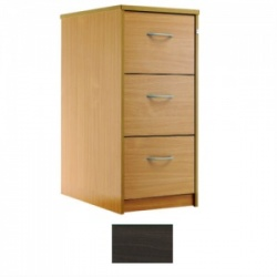Sunflower Medical Walnut Three-Drawer Filing Cabinet