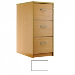 Sunflower Medical White Three-Drawer Filing Cabinet