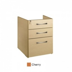 Sunflower Medical Cherry Three Drawer Fixed Under Desk Pedestal