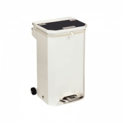 Sunflower Medical 20 Litre Clinical Hospital Waste Bin with Black Lid for Domestic Waste