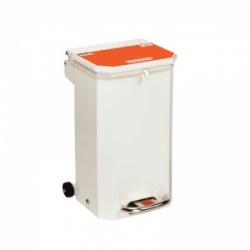 Sunflower Medical 20 Litre Clinical Hospital Waste Bin with Orange Lid for Waste Which May Be Treated
