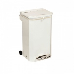 Sunflower Medical 20 Litre Clinical Hospital Waste Bin with White Lid for General Use
