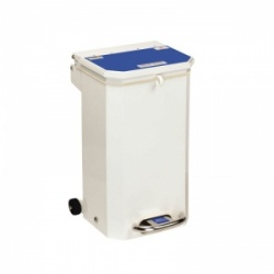 Sunflower Medical 20 Litre Clinical Hospital Waste Bin with Blue Lid for Medical Waste for Incineration
