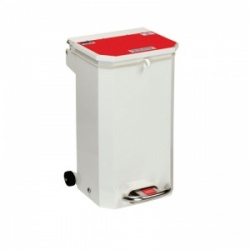 Sunflower Medical 20 Litre Clinical Hospital Waste Bin with Red Lid for Anatomical Waste for Incineration