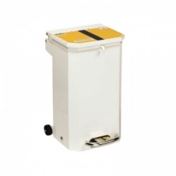 Sunflower Medical 20 Litre Clinical Hospital Waste Bin with Yellow and Black Lid for Offensive and Hygiene Waste