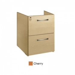 Sunflower Medical Cherry Two Drawer Fixed Under Desk Pedestal