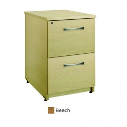 Sunflower Medical Beech Two Drawer Under Desk Pedestal