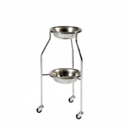 Sunflower Medical Two-Tier Double Bowl Stand with Two Bowls