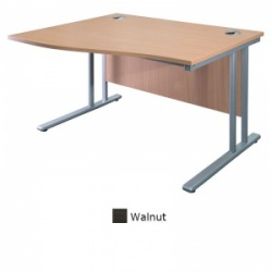 Sunflower Medical Walnut 180cm Wide Left Hand Wave Desk