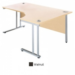 Sunflower Medical Walnut 180cm Wide Right Hand J-Shaped Desk