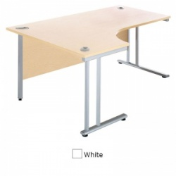 Sunflower Medical White 180cm Wide Left Hand J-Shaped Desk