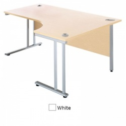 Sunflower Medical White 180cm Wide Right Hand J-Shaped Desk