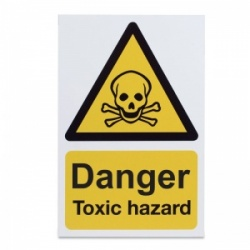 'Warning Toxic Hazard' Safety Sign