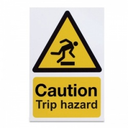 'Caution Trip Hazard' Safety Sign