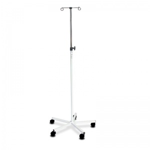 Bristol Maid Two-Hook Mild Steel Mobile Infusion Stand