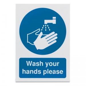 'Wash Your Hands Please' Safety Sign