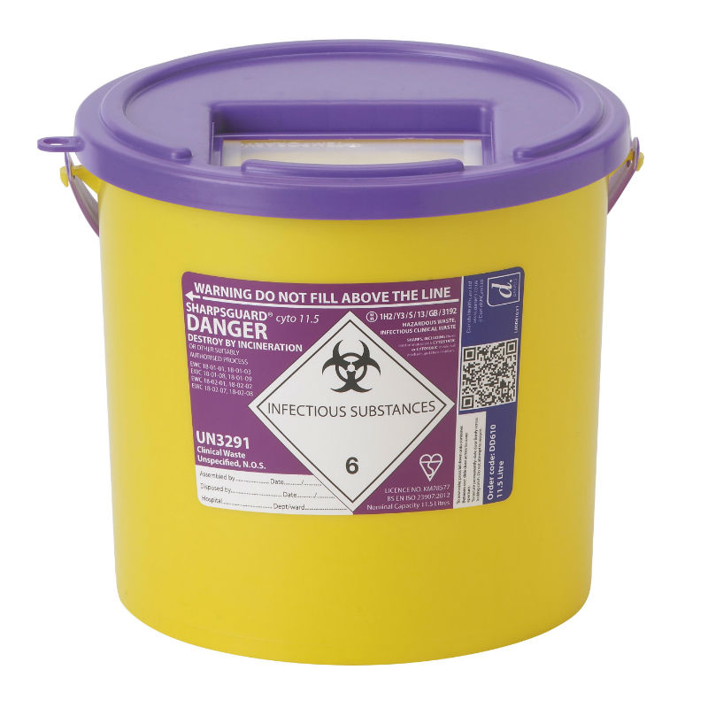 Sharpsguard Purple Container for Cytotoxic and Cytostatic Waste