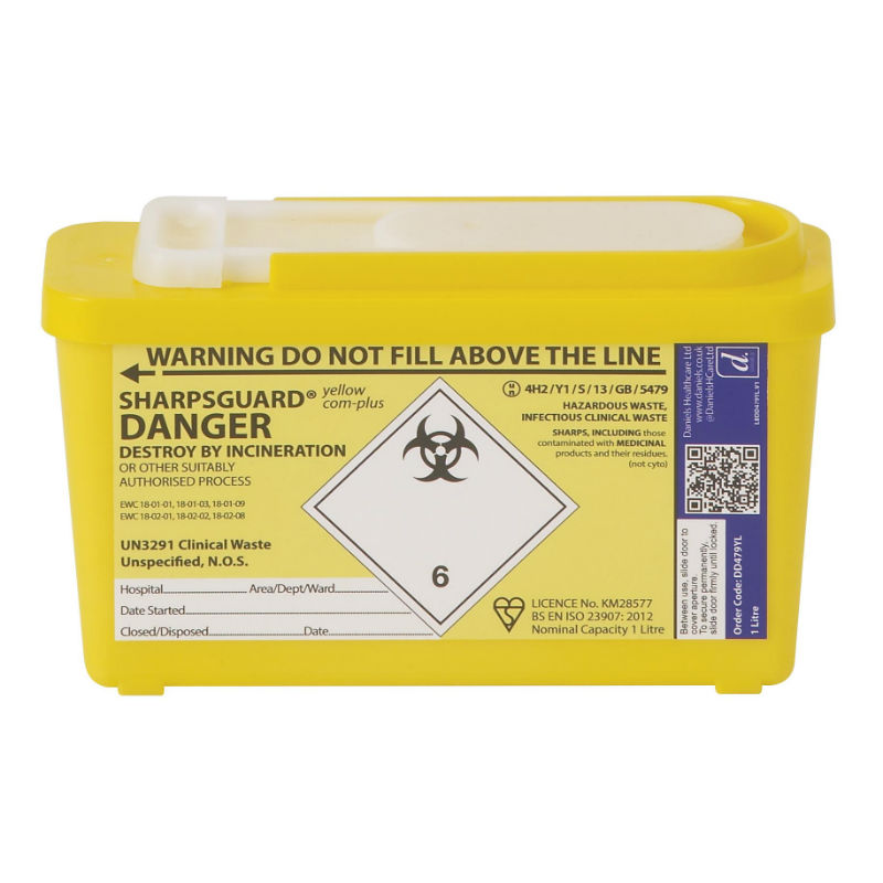 Sharpsguard Yellow Container for Contaminated Sharps